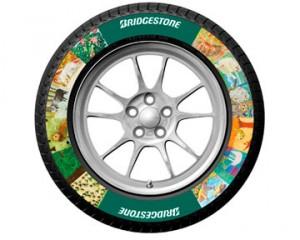 Bridgestone печатают фото на шинах
